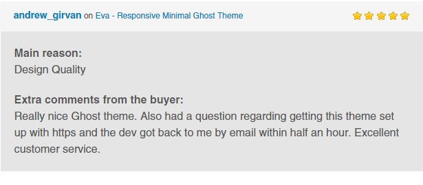 Eva - Responsive Minimal Ghost Theme - 2