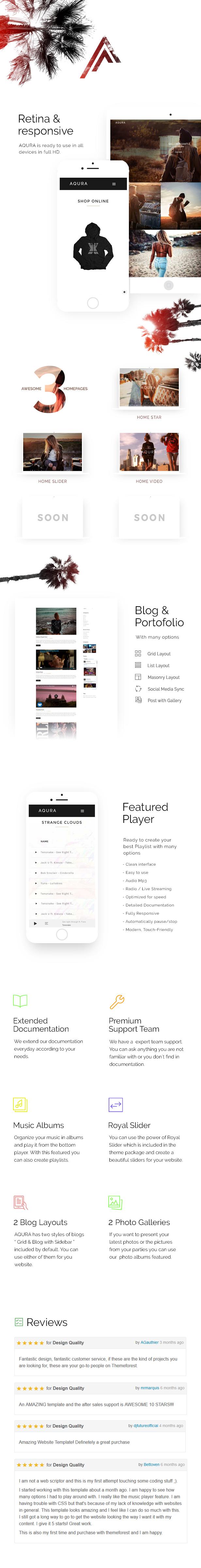 AQURA - Music Band Musicians & DJ's HTML Template - 1