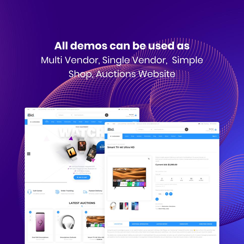 iBid - Multi Vendor Auctions WooCommerce Theme - 21
