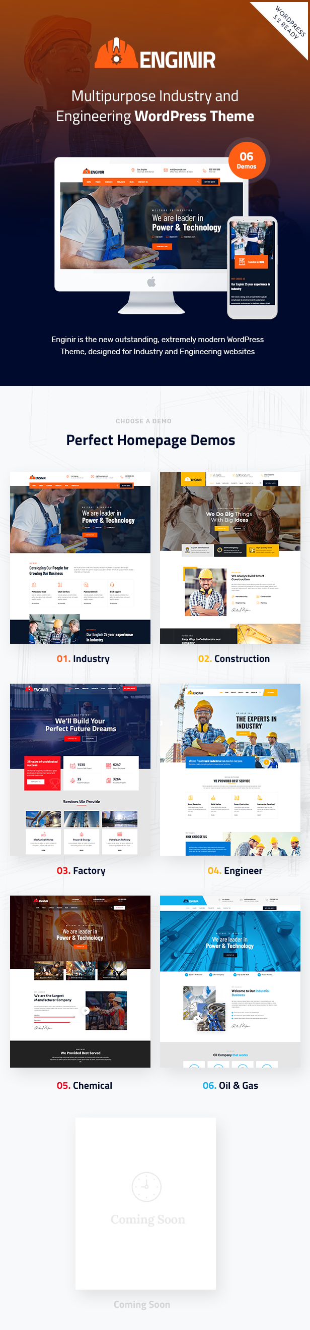 Enginir WordPress Theme