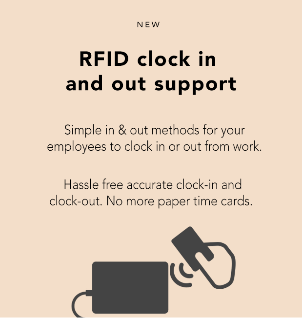 workday time rfid clock in and out support