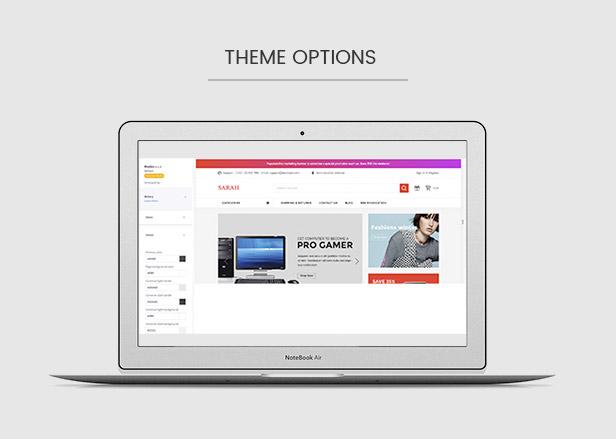 Powerful theme options