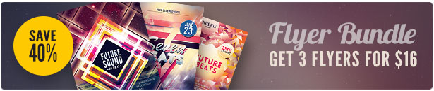 Future Party Flyer Bundle