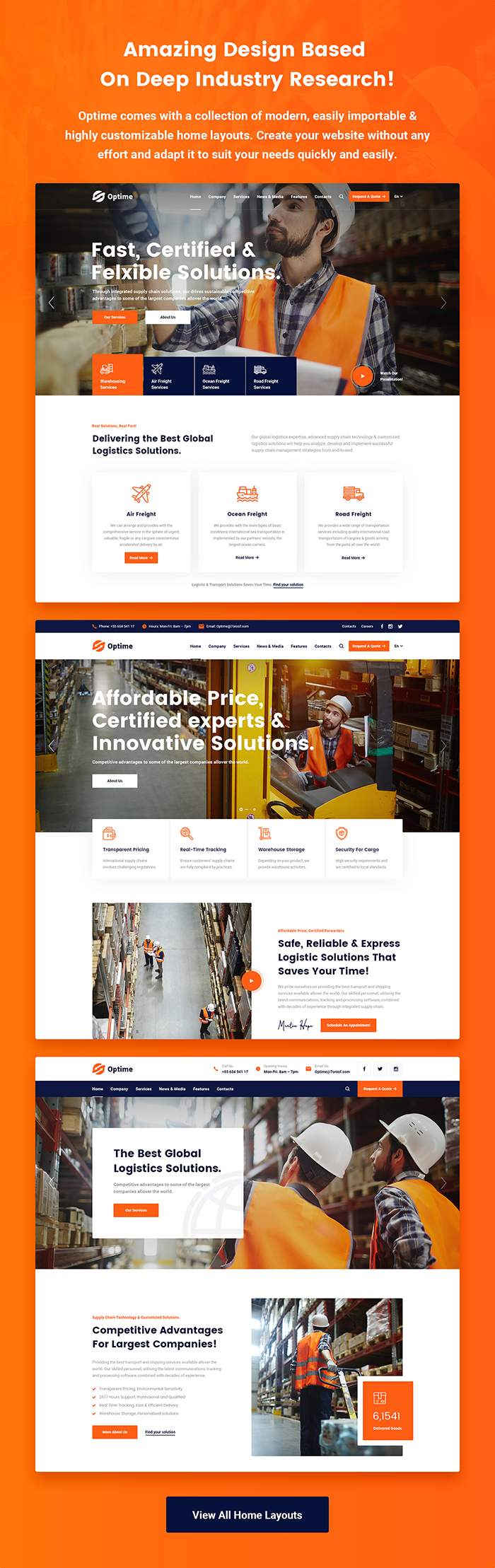 Optime - Logistics & Transportation WordPress Theme by