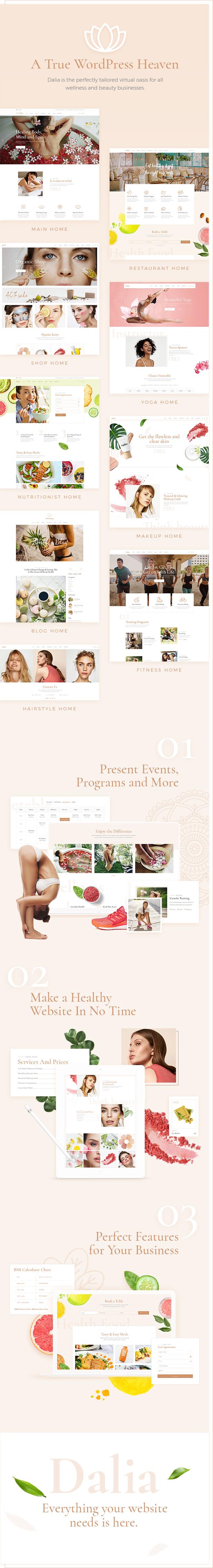 Dalia - A Modern Wellness and Lifestyle Theme - 1