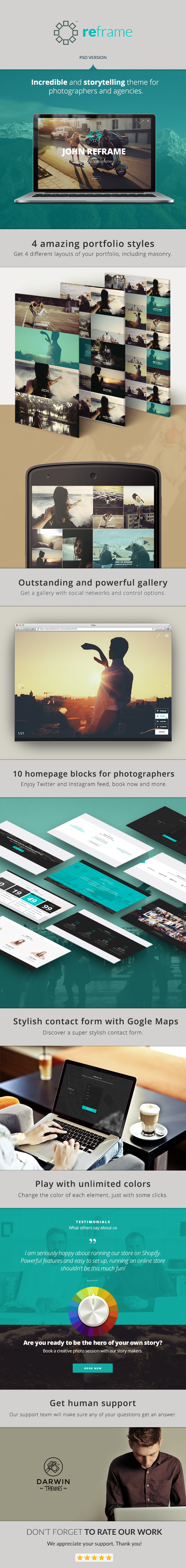 ReFrame Photo - Photography PSD Template - 4