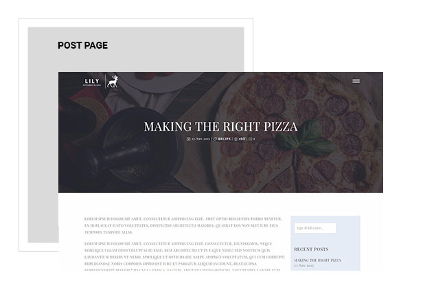 Lily | One Page Restaurant WordPress Theme - 7
