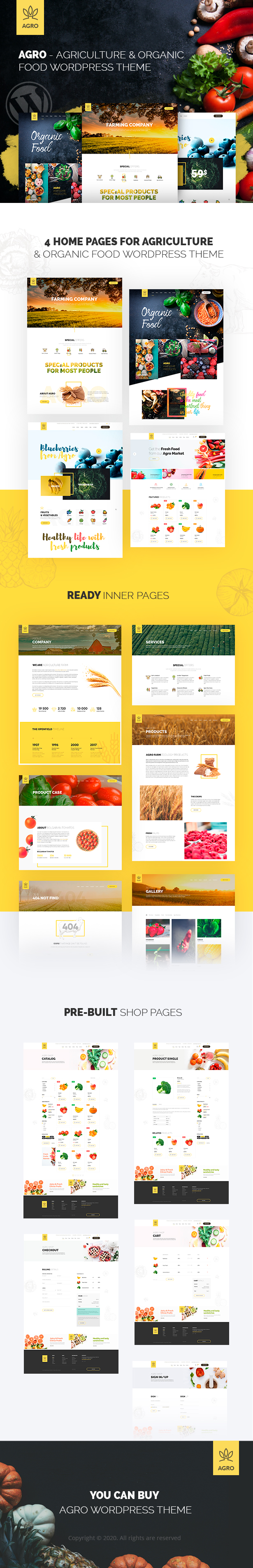 Agro - Organic Food  & Agriculture WordPress Theme - 2
