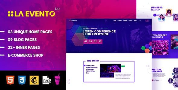 La Evento - Event Conference & Meetup HTML Template