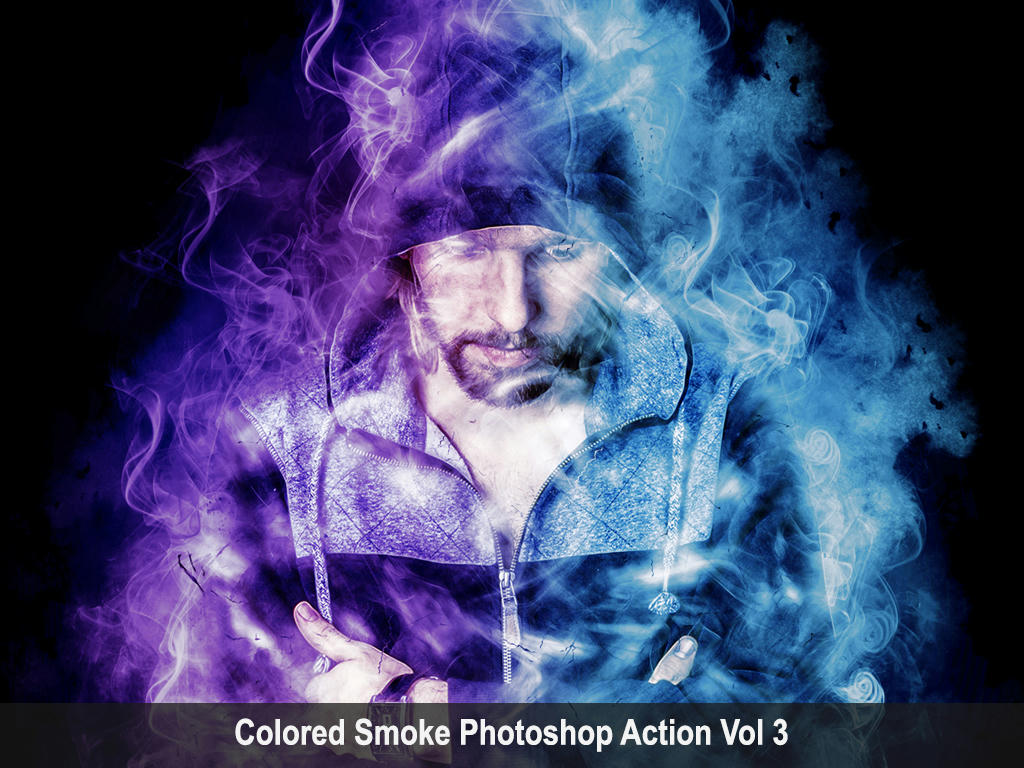 Colored Smoke Photoshop Action Vol 3