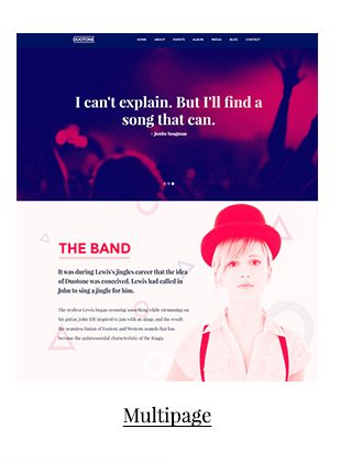 Music & Band Responsive Website Template - Duotone - 3