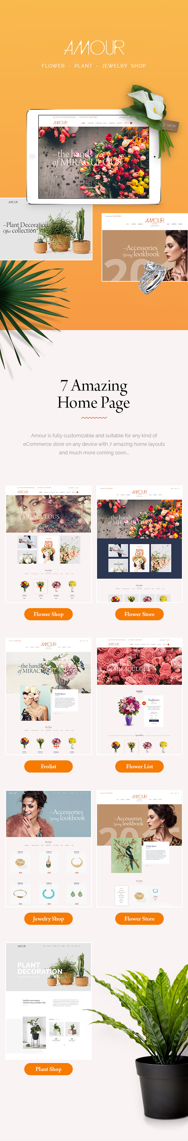 Amour - Shop WordPress theme - Flower - Jewelry - Handmade - Gift - 5