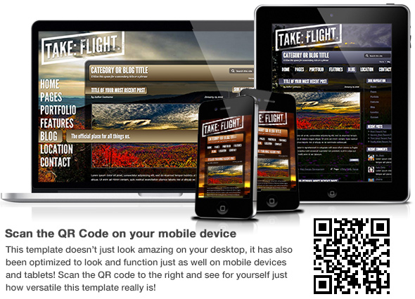 Flight - Responsive Fullscreen Background Template - 1