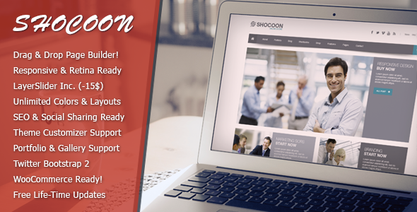 Shocoon Business Corporate WP WooCommerce Theme