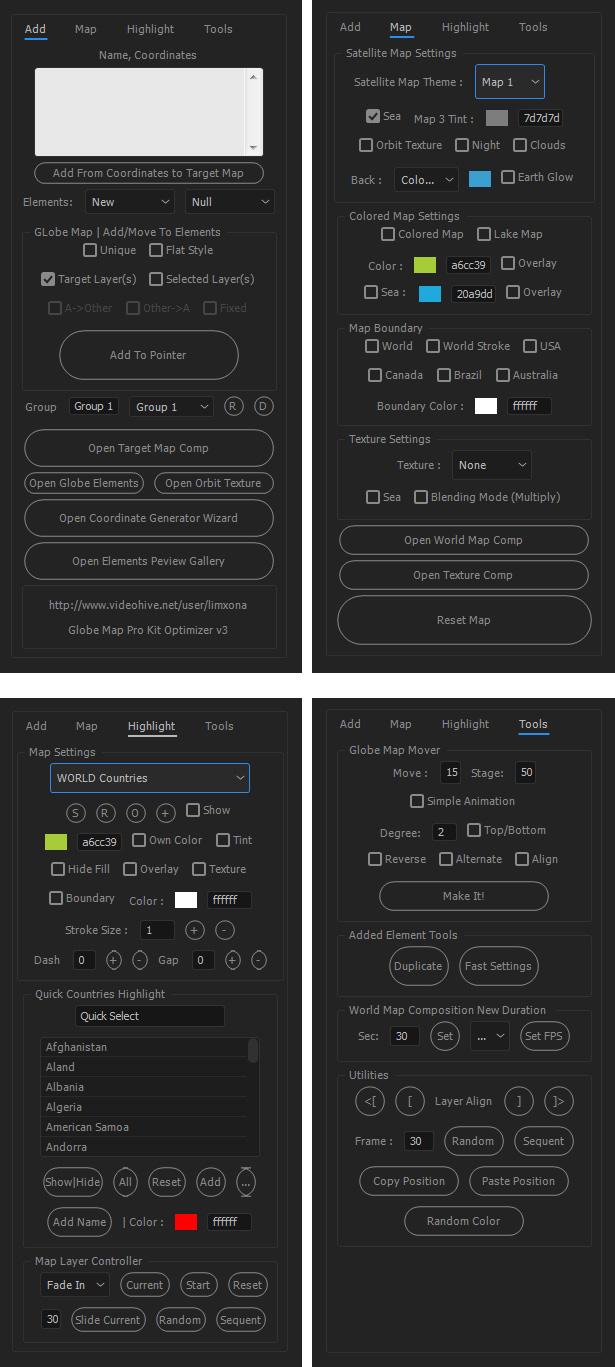 Globe map pro kit by limxona videohive advenced globe map optimizer script gumiabroncs Gallery