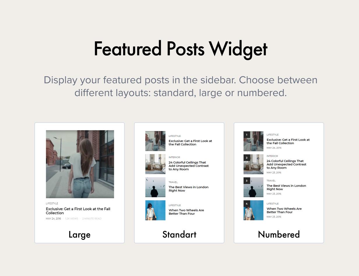 Featured Posts Widget