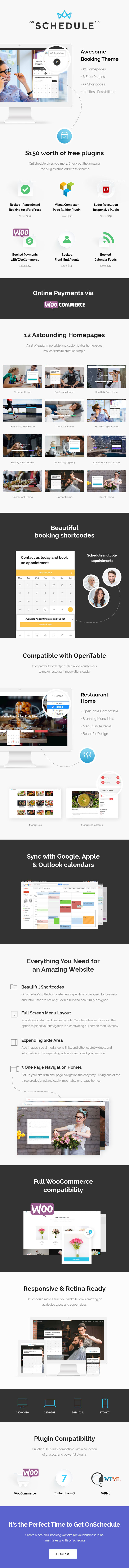 OnSchedule - Booking Theme for Business and Retail - 1
