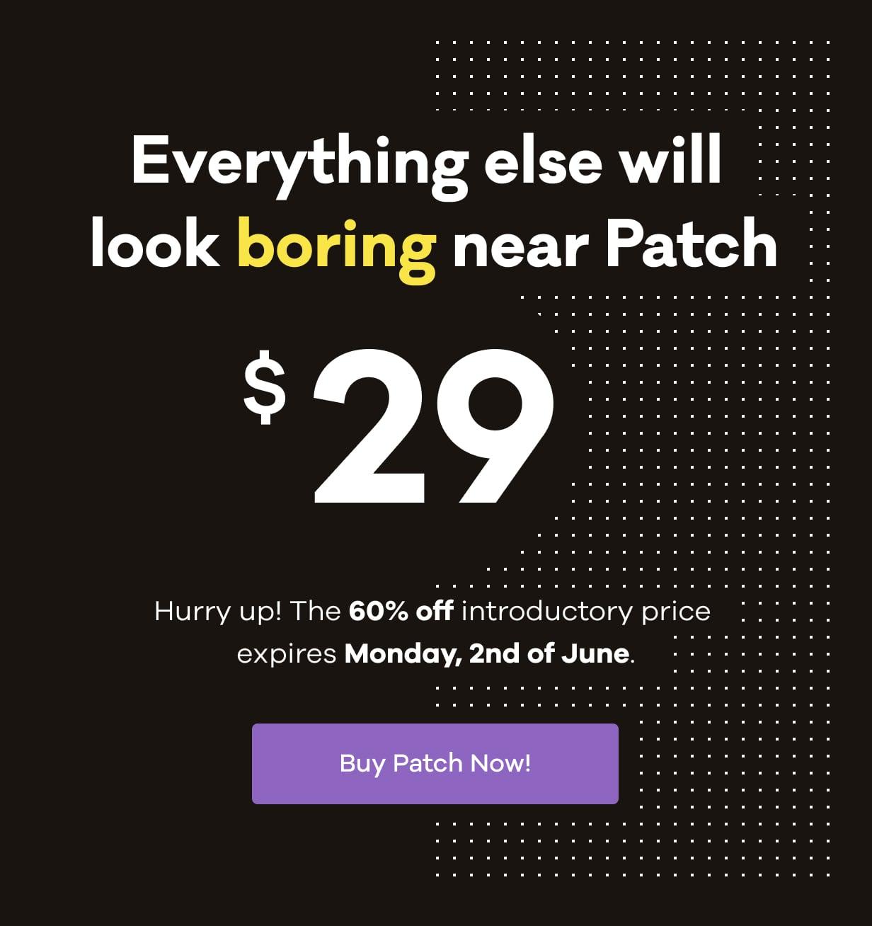 patch Promo Price