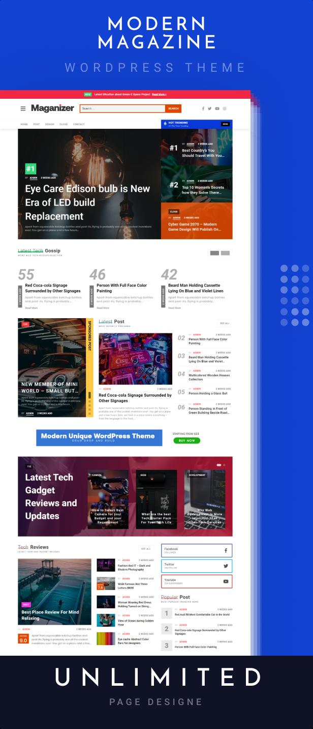Maganizer - Modern Magazine WordPress Theme - 1