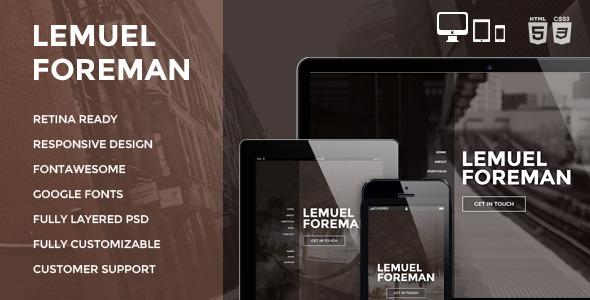 Sirius - Clean Style Portfolio PSD Template - 5
