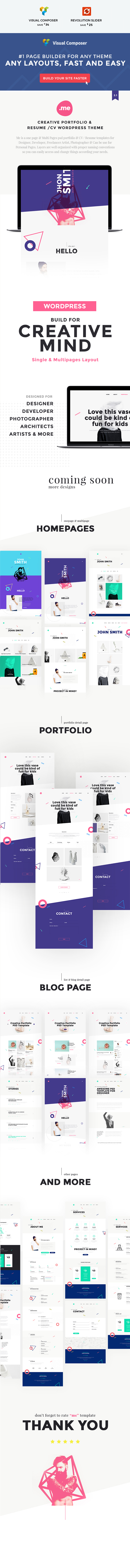 resume theme for designer developer freelancer artist photographer can be use for personal pages well organized with proper naming conventions so