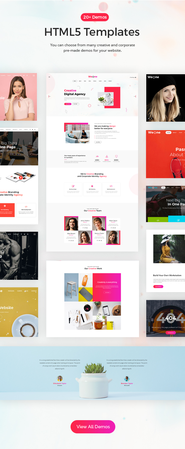 Weone - One Page Parallax HTML5 - 2