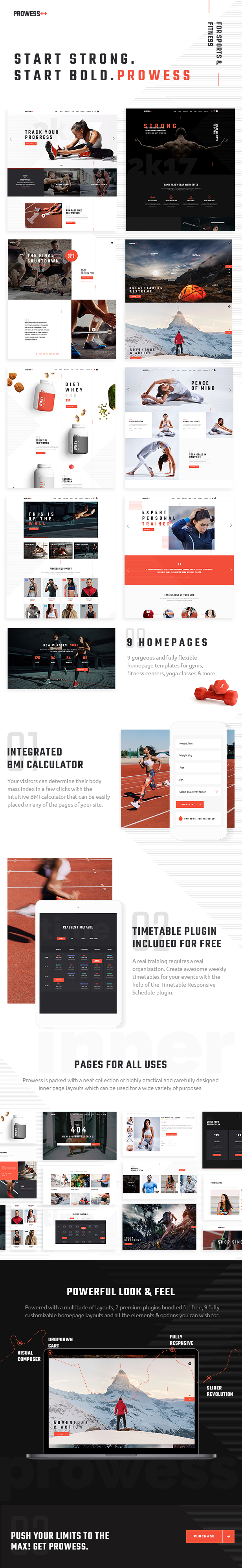 Prowess - Fitness and Gym WordPress Theme - 1