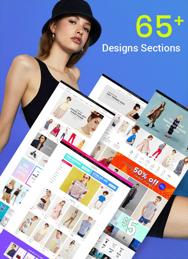 Shopify with 65 sections