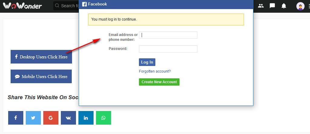 Facebook Invite Addon For WoWonder - 1