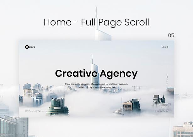 Rainfo - Minimal Creative Portfolio for Freelancers & Agencies - 6