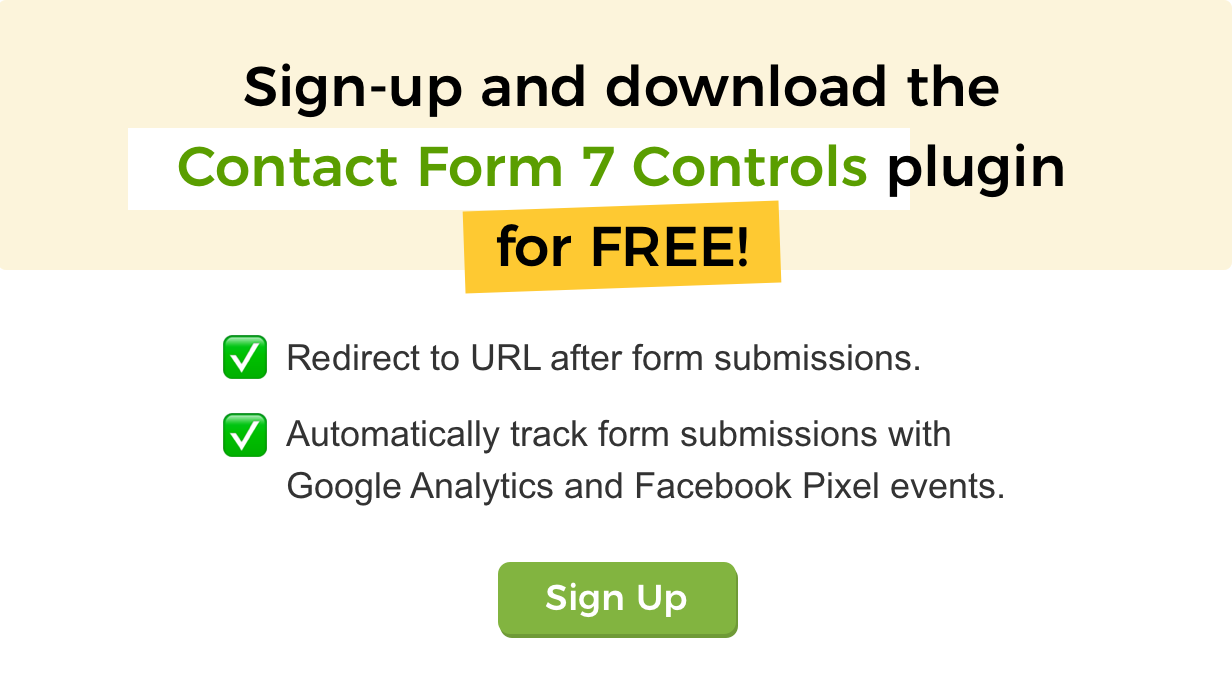 Contact Form 7 Controls for the form output (disable AJAX, default CSS, track events with Google Analytics, etc.).