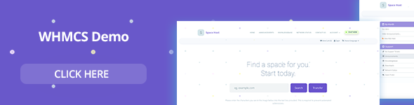 Space Host WHMCS & HTML Landing Page by brandio | ThemeForest