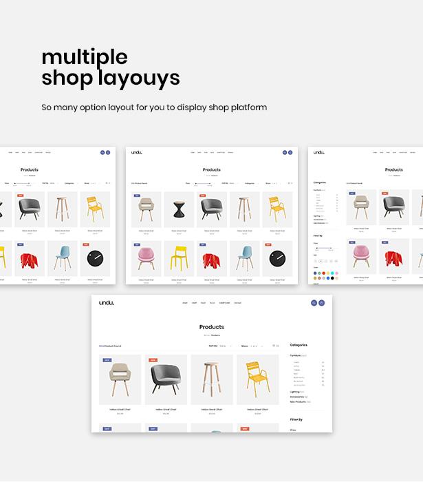 Impressive Shop Page Styles Undu - Furniture & Fashion WooCommerce WordPress Theme