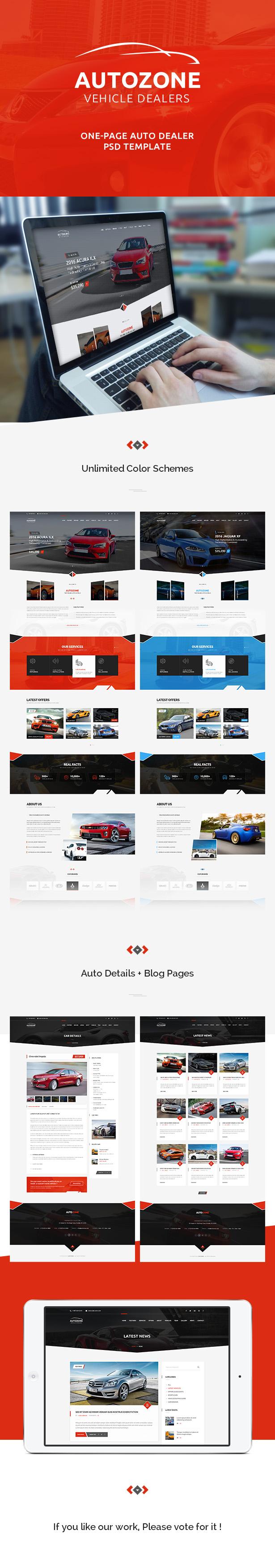 AUTOZONE -  Car Dealer PSD Theme - 2