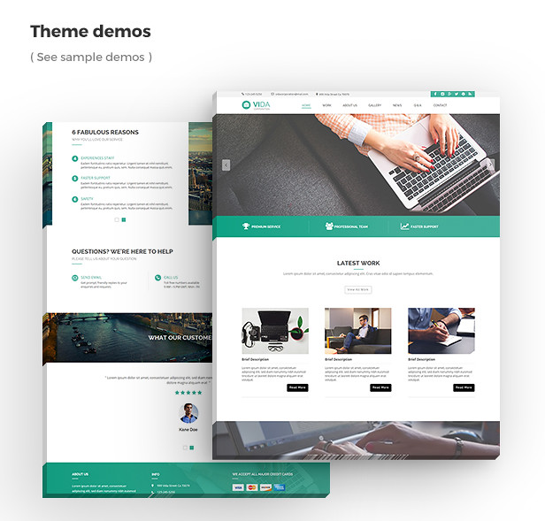 Vida - Multipurpose Muse Template - 11