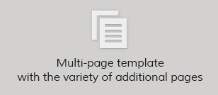 Multi-page template with the variety of additional pages