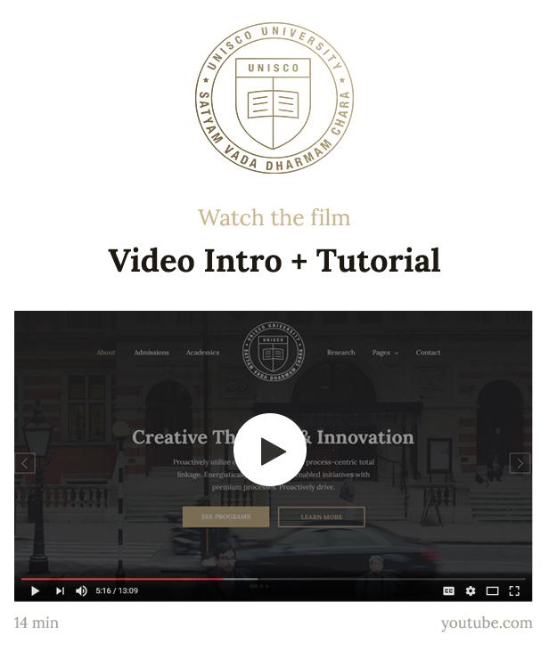 Education Website Template for School, College & University — Unisco HTML - 1