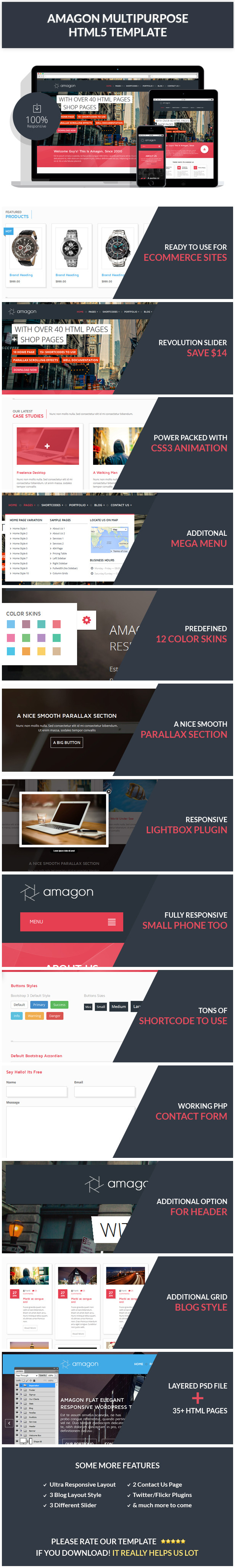 Amagon: Bootstrap Flat Multipurpose HTML5 Template by mannatstudio