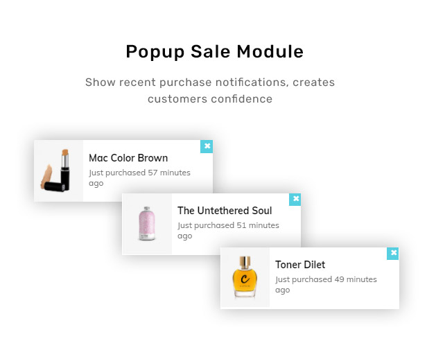 Popup Sale Module – Recent Purchase Notice