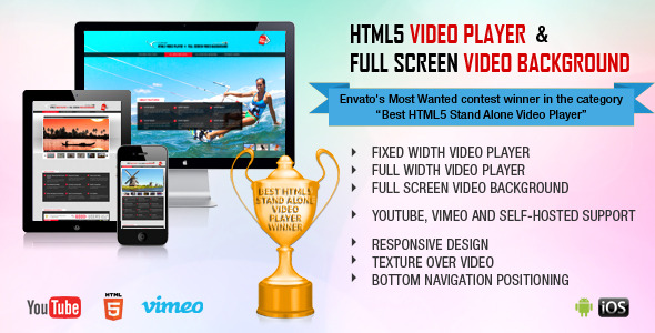 HTML5 Video Player & FullScreen Video Background