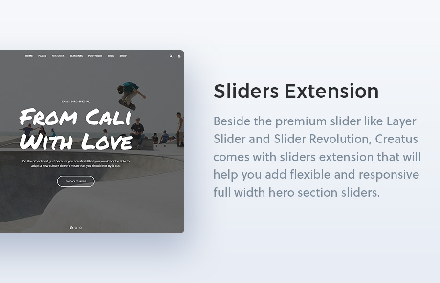 Creatus WordPress Theme Sliders Extension