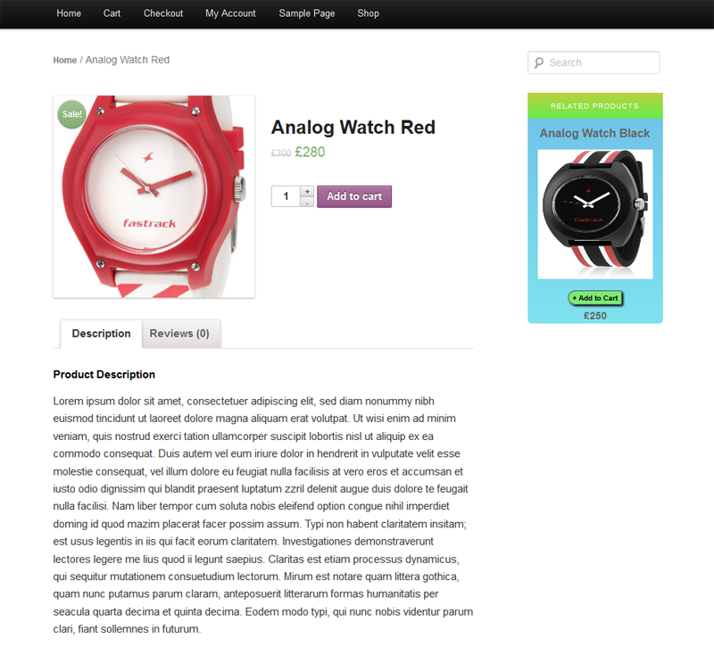 Related Products Widget for WooCommerce - 8