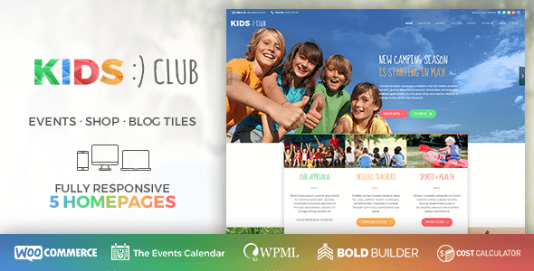 Kids Club – Sport, Classes & Camp WordPress Theme