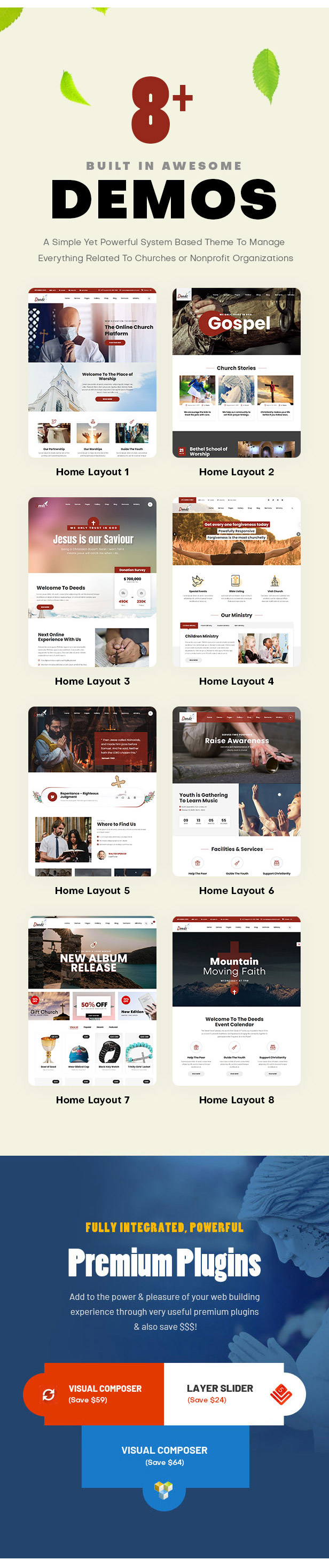 Deeds - Best Responsive Nonprofit Church WordPress Theme - 2