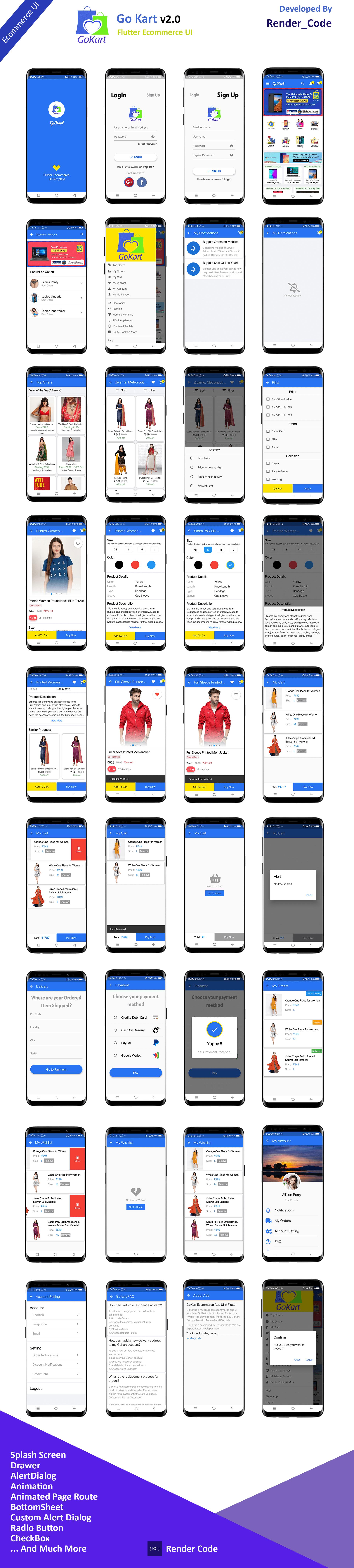 StunningKit - Biggest Flutter App Template Kit (15 App Template) - 19