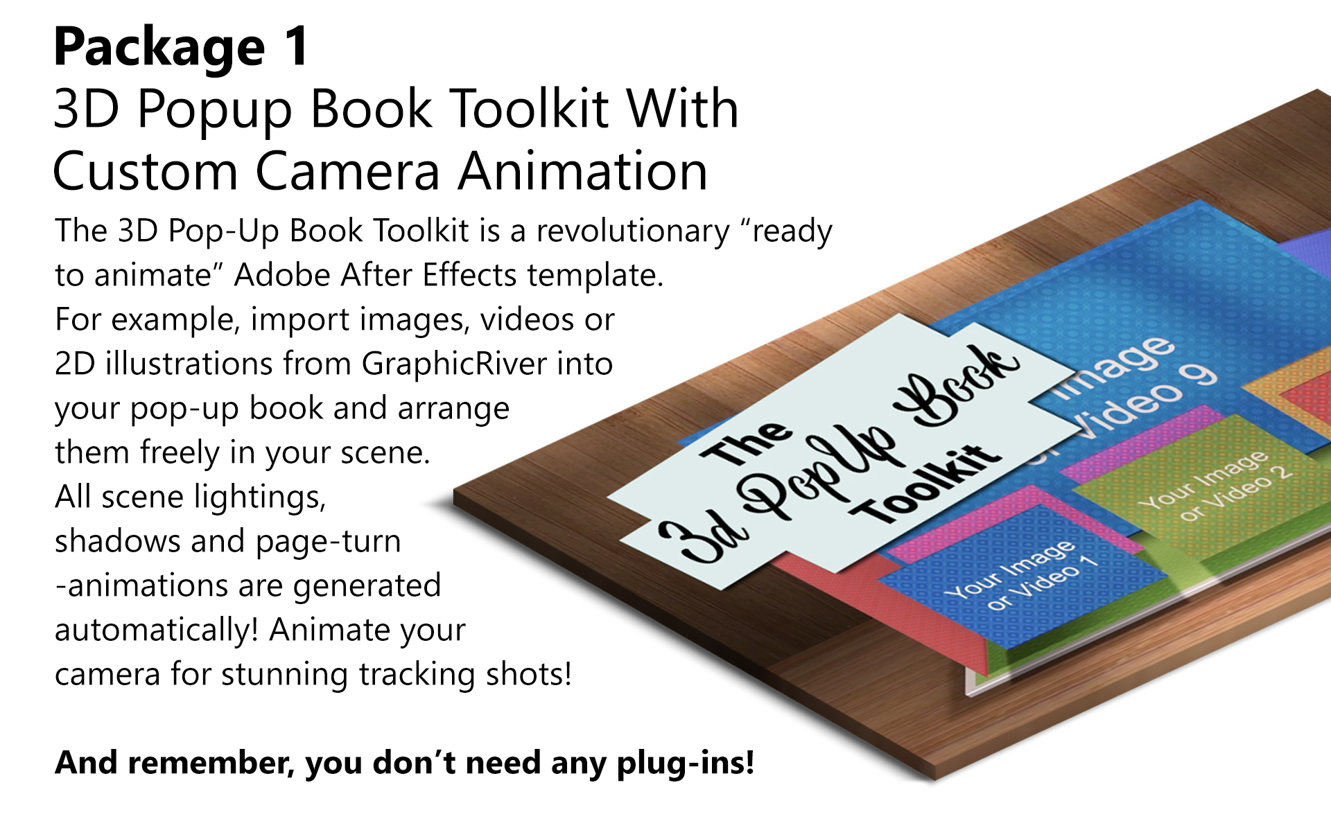 3d pop up book explainer toolkit story pack by snowcake videohive