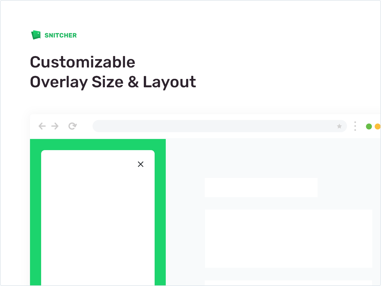 Customizable Overlay Size and Layout