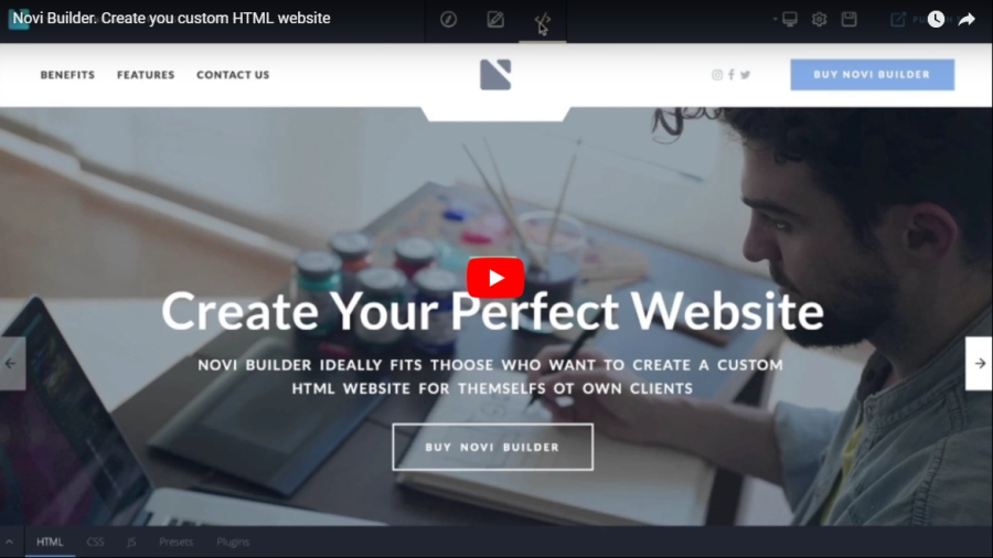 Novi - HTML Page Builder & Visual Content Editor by