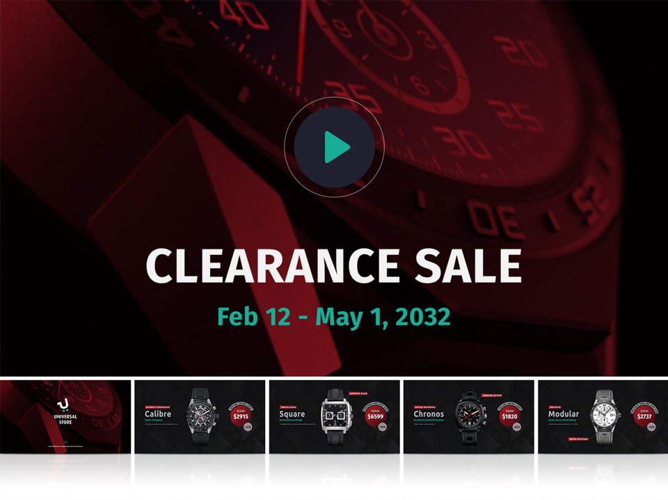 Watch Clearance Example - Universal Store