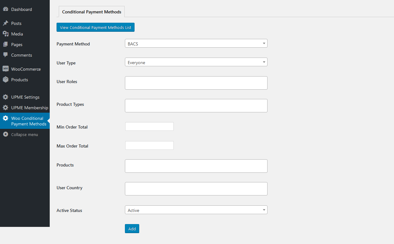 Conditional Payment Methods PRO for WooCommerce - 25